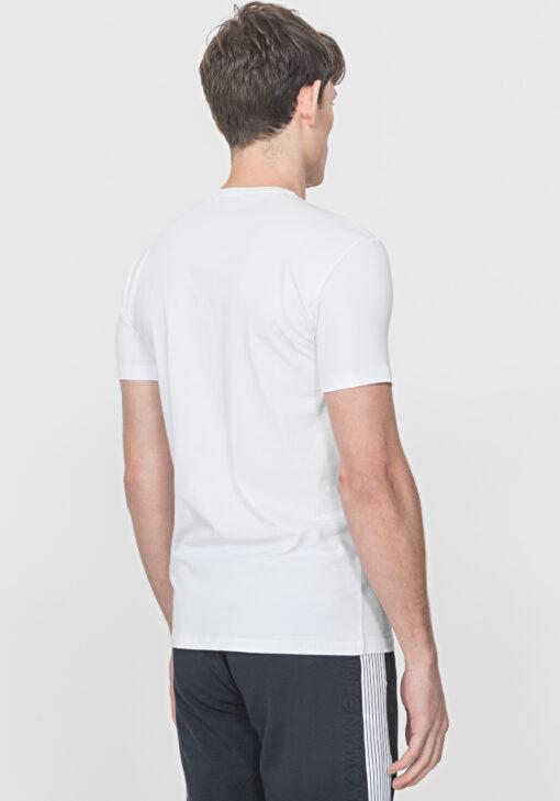 Antony Morato Slim Fit T-Shirt Wit reflecterende print