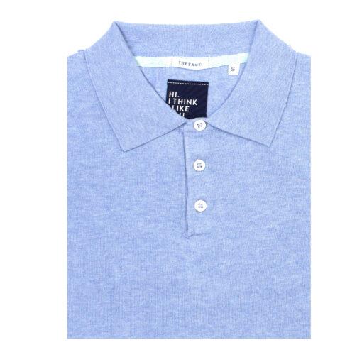 Tresanti Trevor | Pullover met polokraag lichtblauw