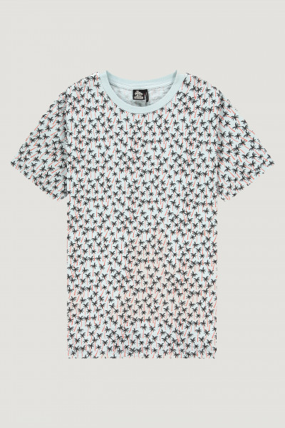 Kultivate T-shirt Palm Forest lichtblauw
