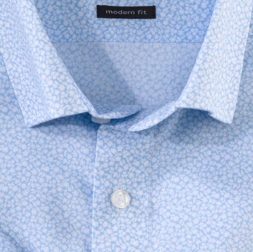 OLYMP Luxor, modern fit, Zakelijke overhemd, Button-Under, Bleu
