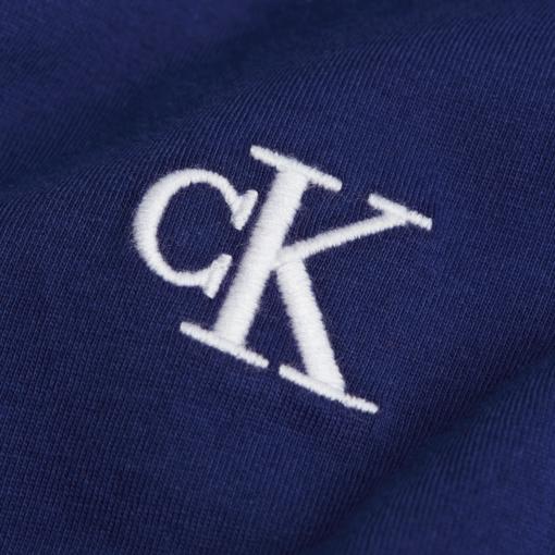 CALVIN KLEIN SLIM T-SHIRT VAN BIOLOGISCH KATOEN NAVAL BLUE
