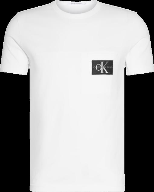 CALVIN KLEIN SLIM T-SHIRT MET EMBLEEM BRIGHT WHITE