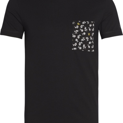 CALVIN KLEIN SLIM FIT T-SHIRT MET PRINT POCKET