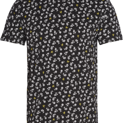 CALVIN KLEIN T-SHIRT ALL-OVER PRINT CK BLACK