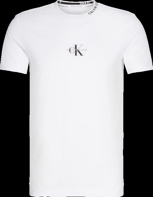 CALVIN KLEIN SLIM T-SHIRT MET LOGO BRIGHT WHITE