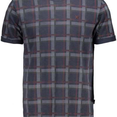 Kultivate Tee Faded Plaid India Ink