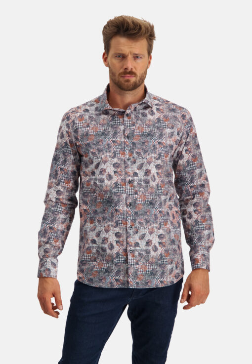 State of Art Overhemd met print brique/camel