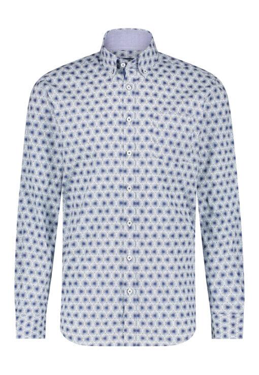 State of Art Overhemd met button down kraag kobalt/lichtblauw