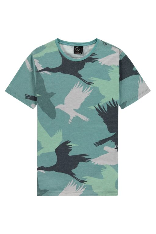 Kultivate Tee Bird Camo Oilblue