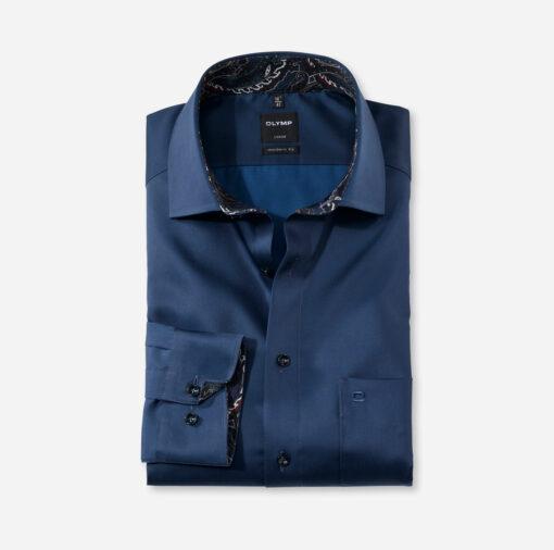 OLYMP Luxor Modern Fit, Zakelijke Overhemd, Global Kent, Koningsblauw