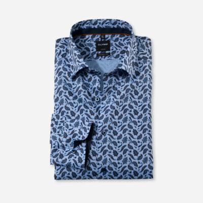 OLYMP Luxor Modern Fit, Zakelijke Overhemd, Button-Under, Nougat