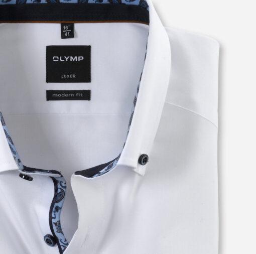 OLYMP Luxor Modern Fit, Zakelijke Overhemd, Button-Down, Wit