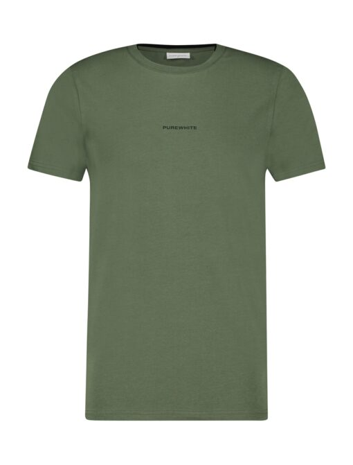 Purewhite Double Collar T-Shirt Army Green