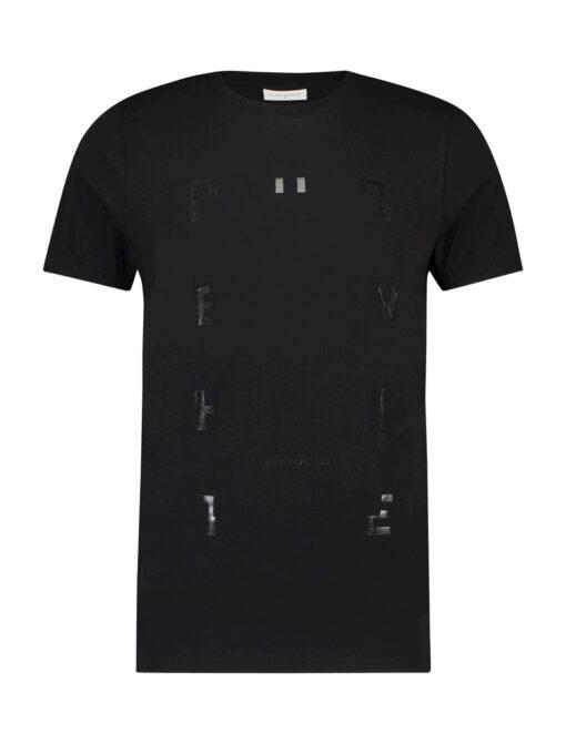 Purewhite Lettering T-Shirt Black