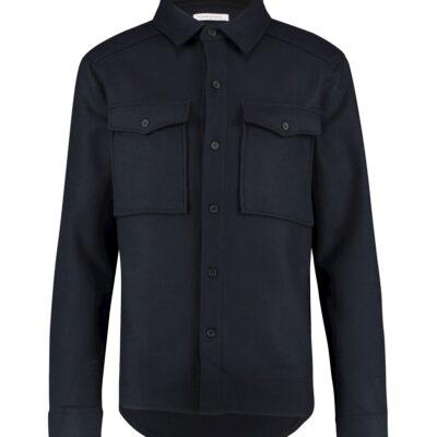 Purewhite Woollen Shirt Navy