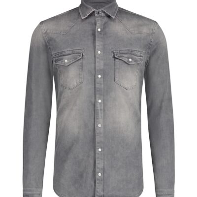 Purewhite Denim Shirt Grey