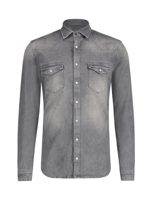 Purewhite Denim Shirt Grey