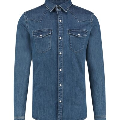 Purewhite Denim Shirt Blue