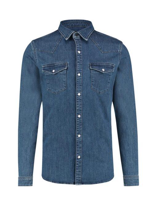 Purewhite Denim Shirt Blue