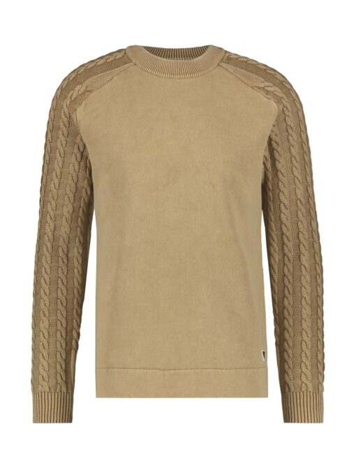 Purewhite Cable Knitted Sweater Sand