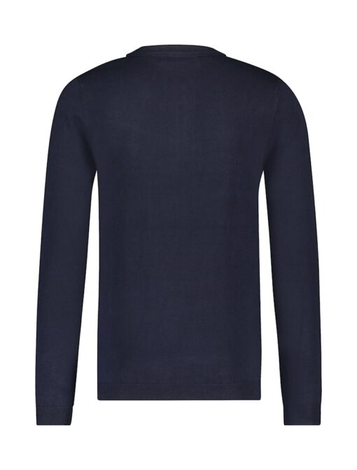 Purewhite Long Sleeve Knitted Polo Navy