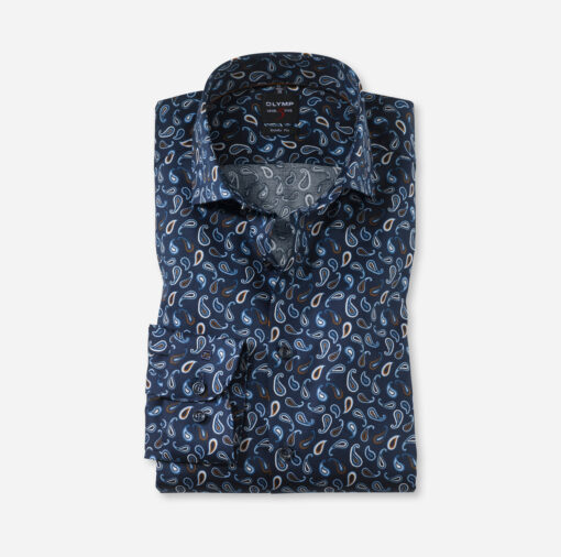 OLYMP Level Five Body Fit, Zakelijke Overhemd, Royal Kent, Nougat