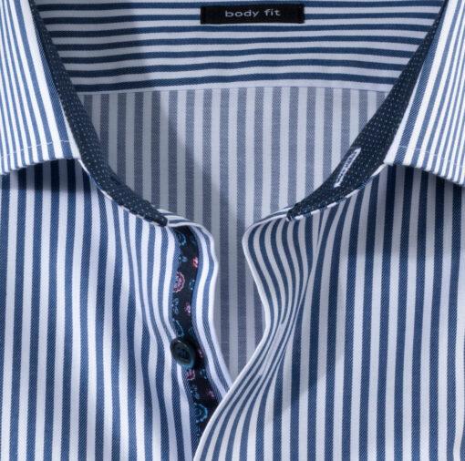 OLYMP Level Five Body Fit, Zakelijke Overhemd, Royal Kent, Marineblauw