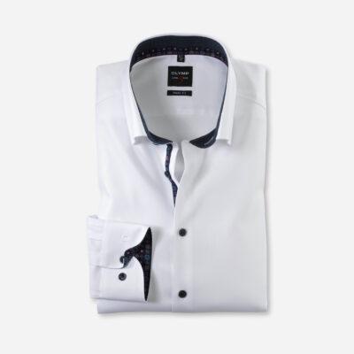 OLYMP Level Five Body Fit, Zakelijke Overhemd, Button-Under, Wit