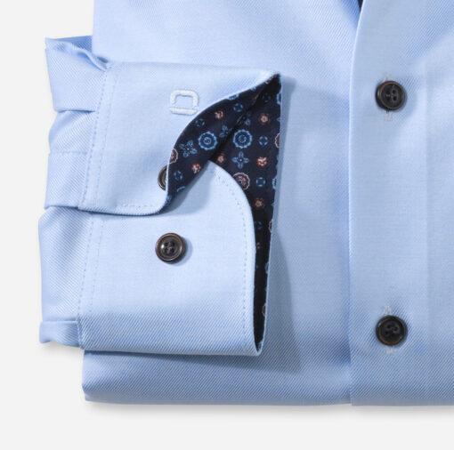OLYMP Level Five Body Fit, Zakelijke Overhemd, Button-Under, Ozonblauw