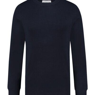 Purewhite Essential Knit Crewneck Navy
