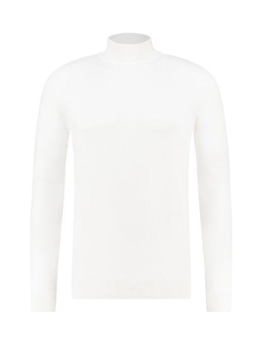 Purewhite Essential Knit Mockneck Off White
