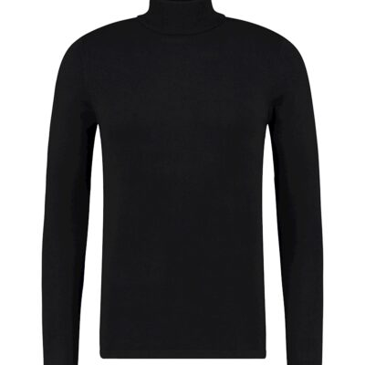 Purewhite Essential Knit Turtleneck Black