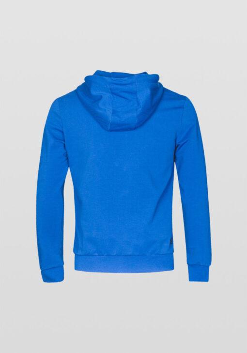 Antony Morato Hoodie borstprint kobaltblauw