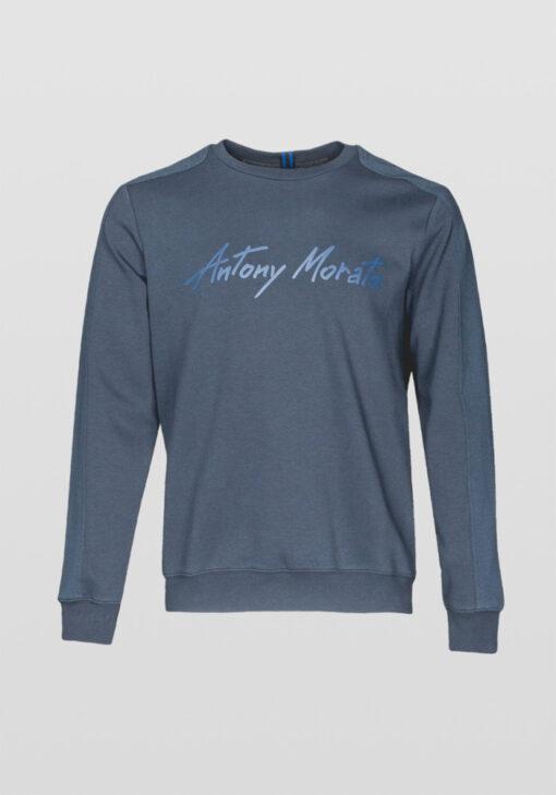 ANTONY MORATO SWEATSHIRT RONDE HALS LOGO BLUE INK