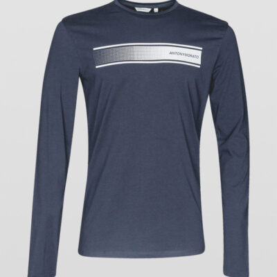 ANTONY MORATO LONG SLEEVE T-SHIRT BLUE INK
