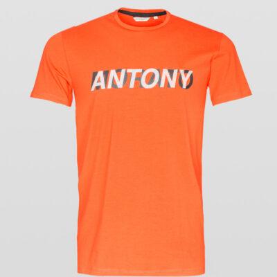 ANTONY MORATO SLIM-FIT T-SHIRT BORSTLOGO ORANGE