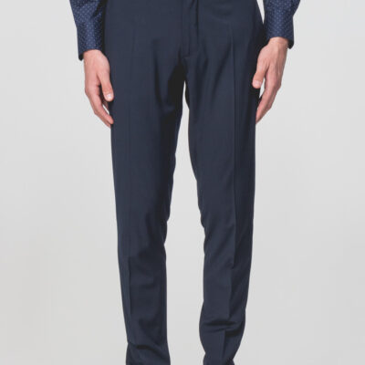 ANTONY MORATO SLIM-FIT PANTALON WOL-BLEND STRETCH STOF DONKERBLAUW