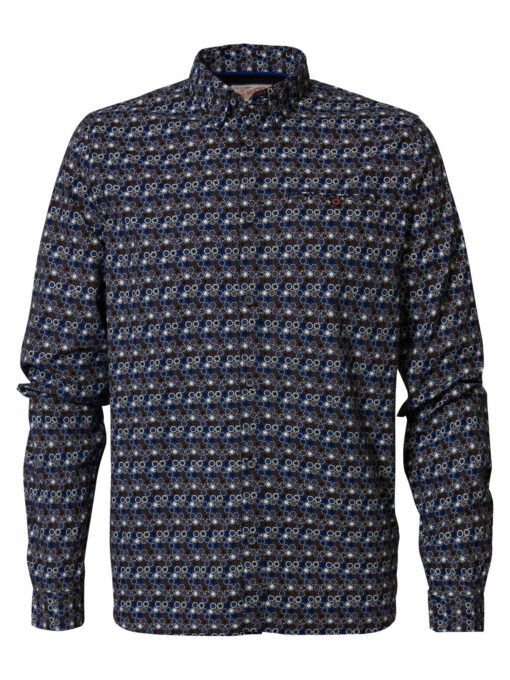 Petrol Industries All-over print overhemd Truffle