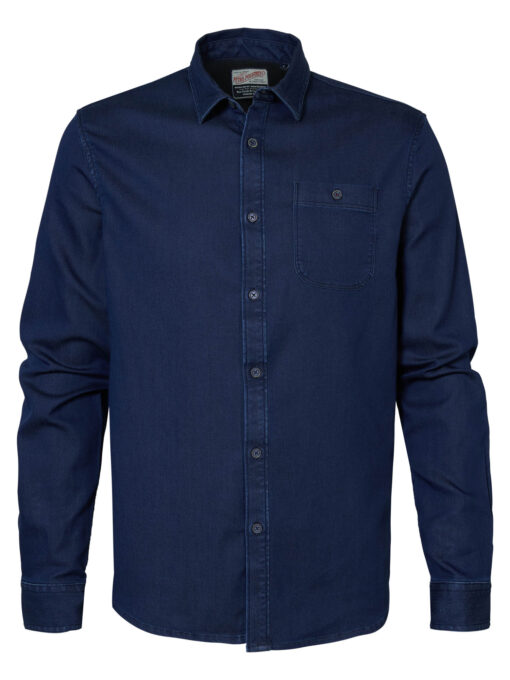 Petrol Industries Denim overhemd Dark Indigo
