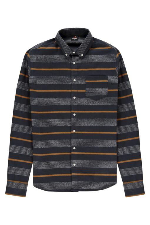 Kultivate Overhemd Vertical Darknavy