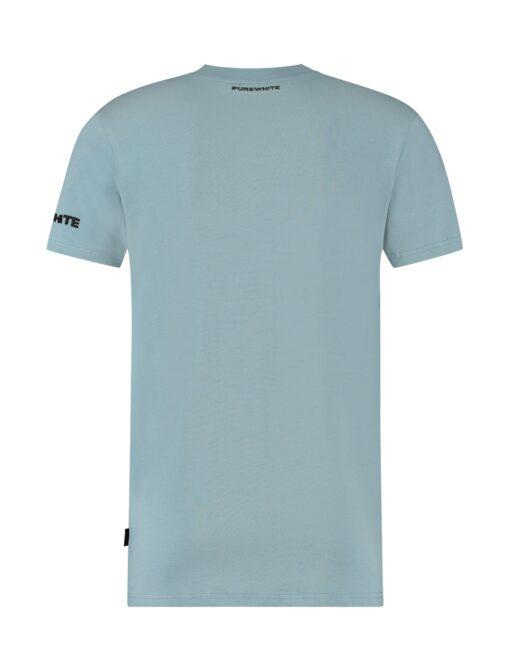 Purewhite Collar Logo T-shirt Blue