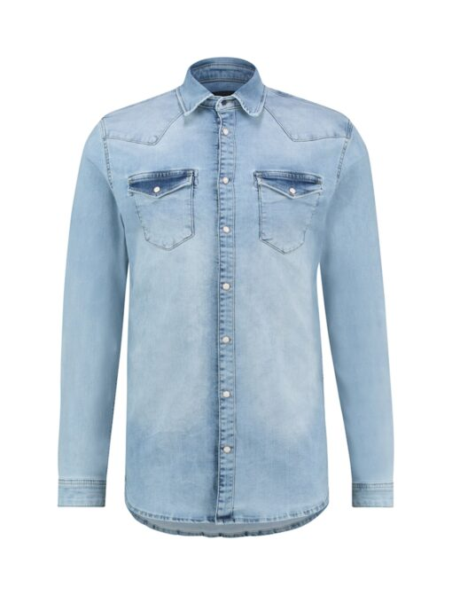 Purewhite Denim Shirt Light Blue