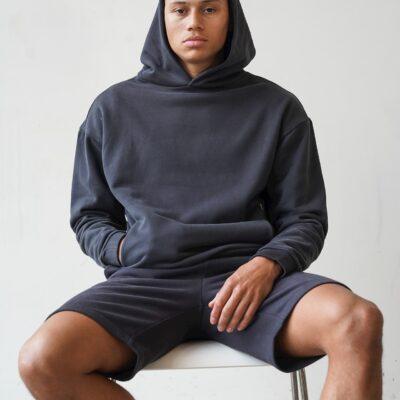Kultivate Comfort Studio Sweater Comfort Hood Phantom