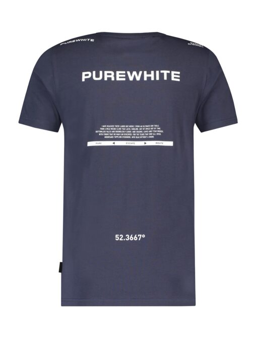 Purewhite Purewhite Triangle Print T-shirt Navy