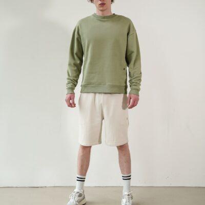 Kultivate Comfort Studio Sweater Comfort Crew Oil Green