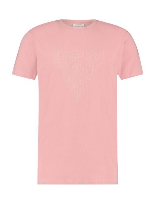 Purewhite Morse Logo T-shirt Pink