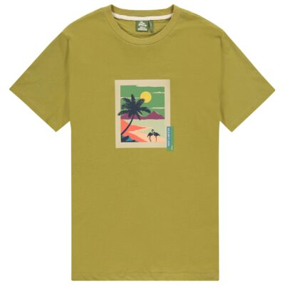 Kultivate Tee Postcard Green Olive