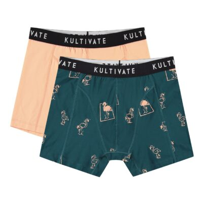 Kultivate Boxer flamingo 2 pack