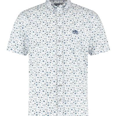 State of Art Overhemd met een fietsenprint kobalt/wit