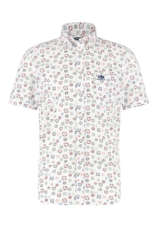 State of Art Button down overhemd met een borstzak roze/wijnrood